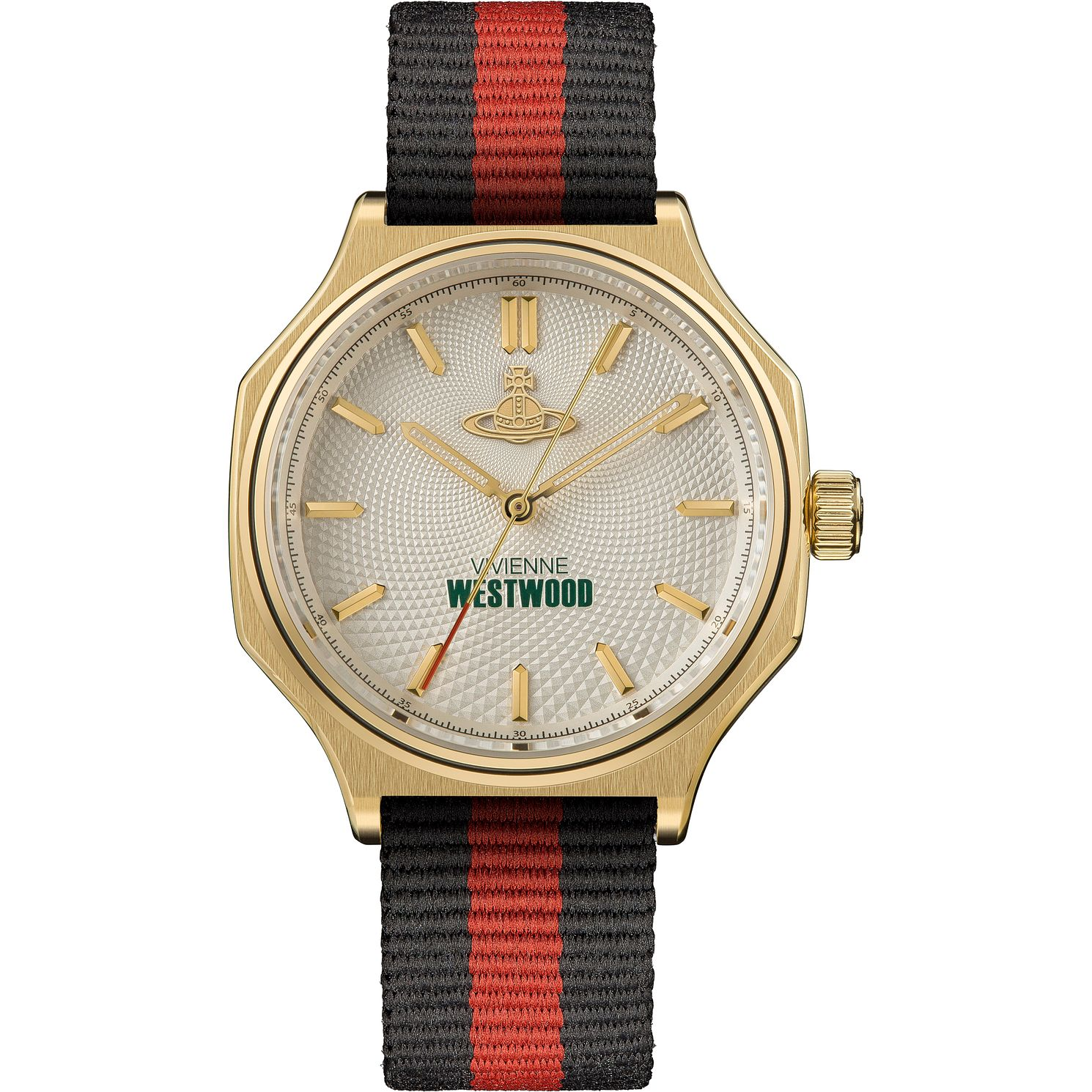 Vivienne Westwood Mile End Men's Stripe Fabric Strap Watch - Product number 4903447