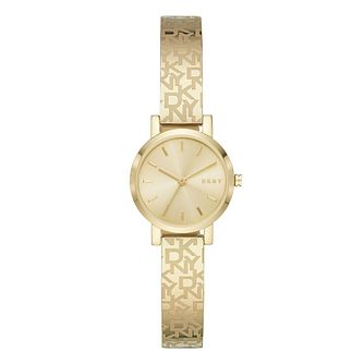 DKNY Soho Ladies' Logo Gold Tone Bangle Bracelet Watch - Product number 4903560