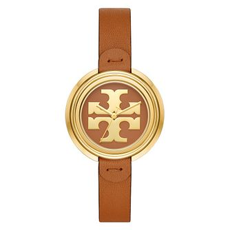 Tory Burch Miller Brown Leather Strap Watch - Product number 4903595