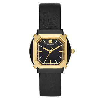 Tory Burch Blake Octagonal Black Leather Strap Watch - Product number 4903633