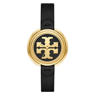 Tory Burch Miller Ladies' Black Leather Strap Watch - Product number 4903668