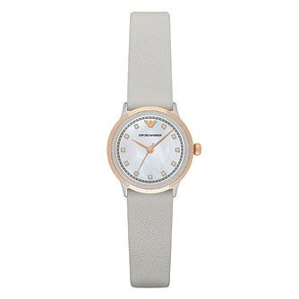 Emporio Armani Ladies' Rose Gold Tone Strap Watch - Product number 4904257