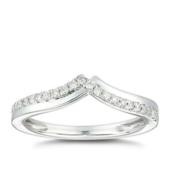 9ct White Gold 0.15ct Diamond Fancy Shape Wedding Ring - Product number 4904702