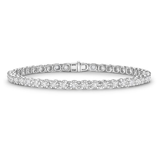 9ct White Gold 2ct Diamond Bracelet - Product number 4909739