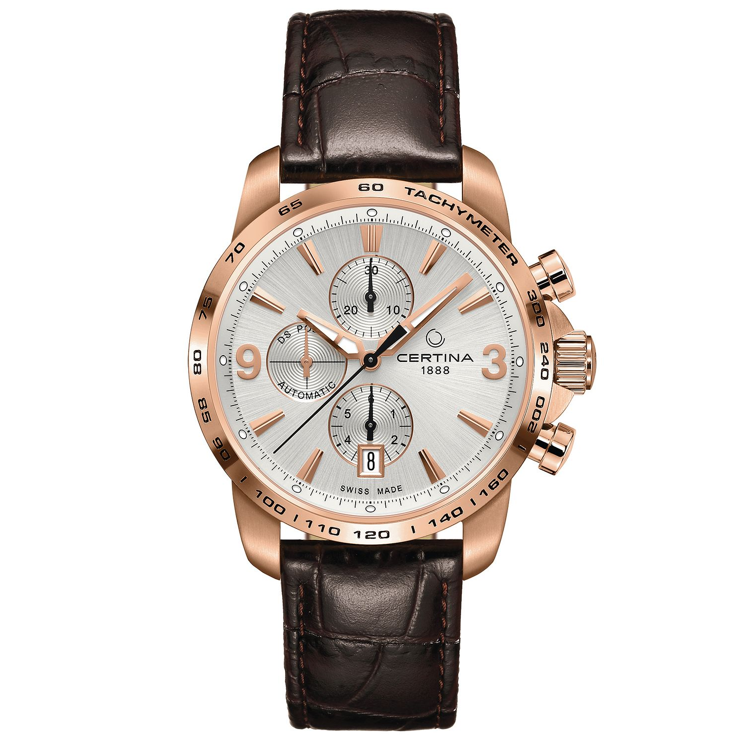 Certina Men's Rose Gold Plated Strap Watch - Product number 4910656
