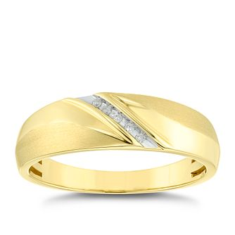 9ct Yellow Gold Diamond Ring - Product number 4910974
