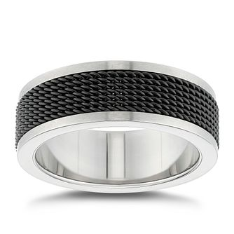 Titanium Black Centre Textured Ring - Product number 4911873