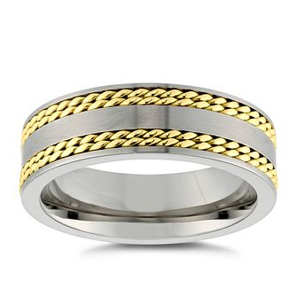Titanium Gold Tone Ring - Product number 4912071
