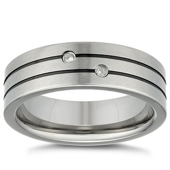 Titanium Diamond Set Ring - Product number 4912217
