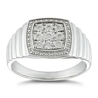 Silver Diamond Set Signet Ring - Product number 4913639