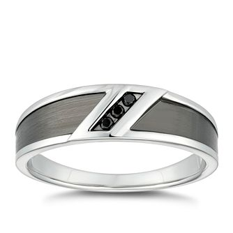 Silver Black Treated Diamond Ring - Product number 4913817