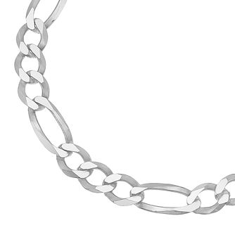 Silver Figaro 8 inches Chain Bracelet - Product number 4914287