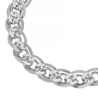 Sterling Silver 8 Inch Double Curb Chain Bracelet - Product number 4914368