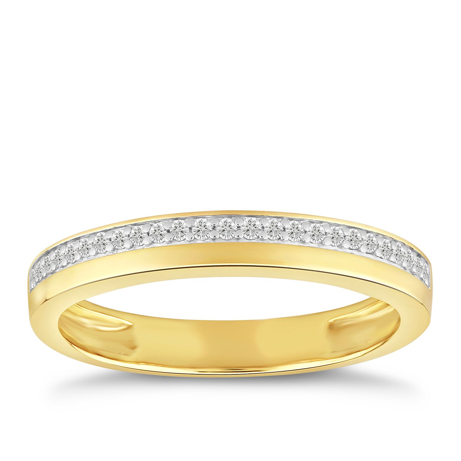 9ct Yellow Gold 0.10ct Diamond Row Ring - Product number 4915720