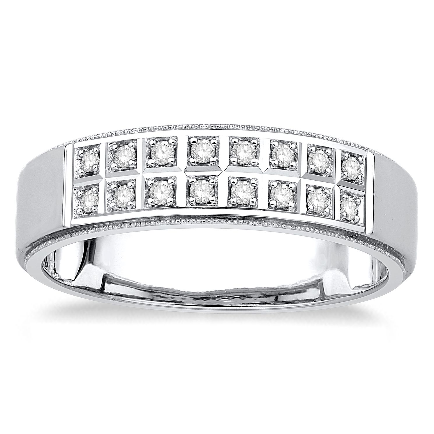 9ct White Gold 0.15ct Diamond Ring - Product number 4919440