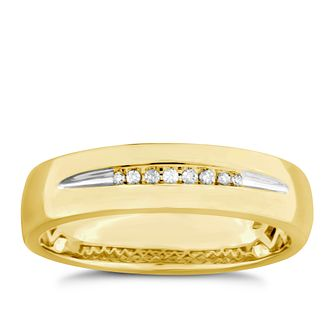 9ct Yellow Gold Diamond Men's Wedding Ring - Product number 4919998