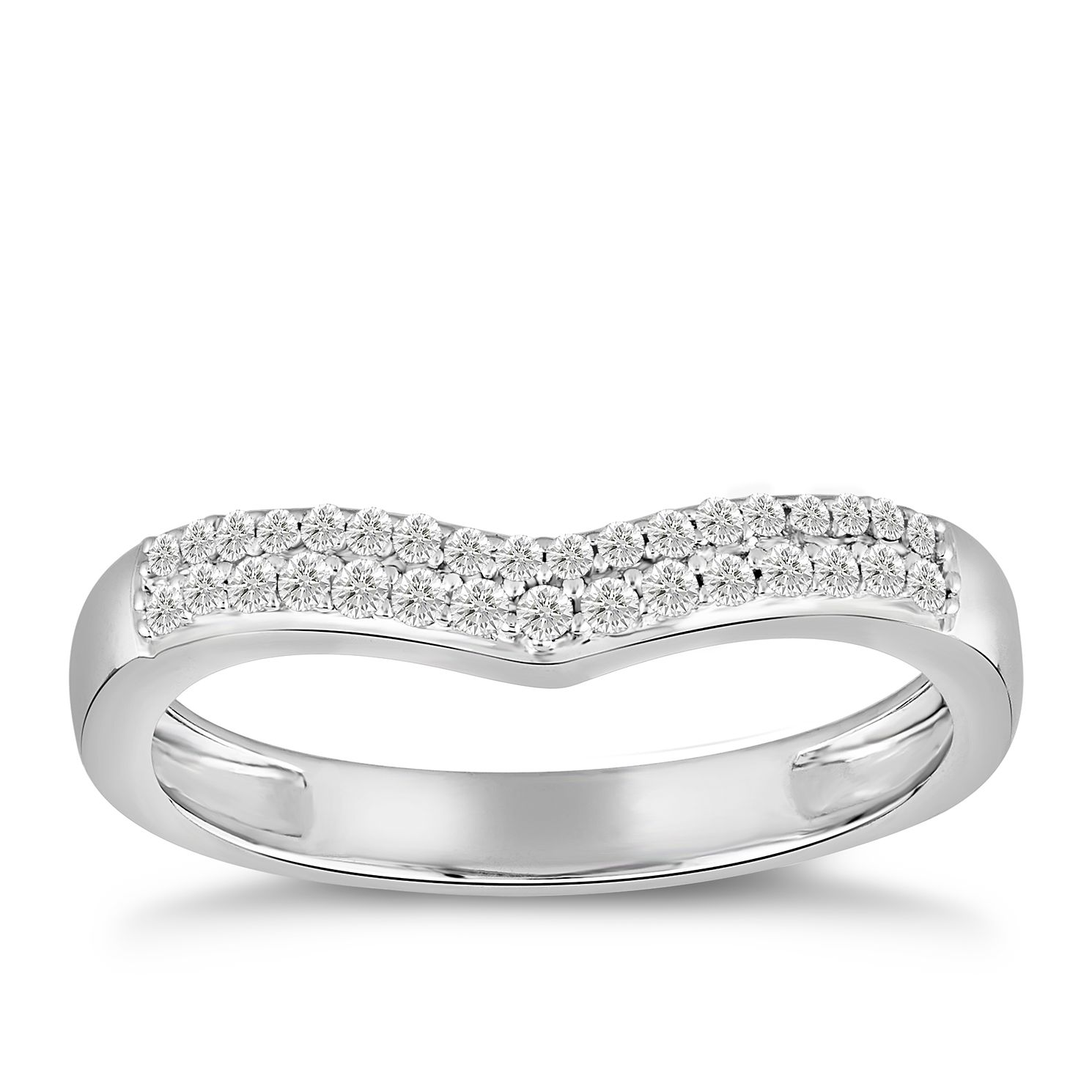 18ct White Gold 0.15ct Diamond Shaped Ring - Product number 4920155