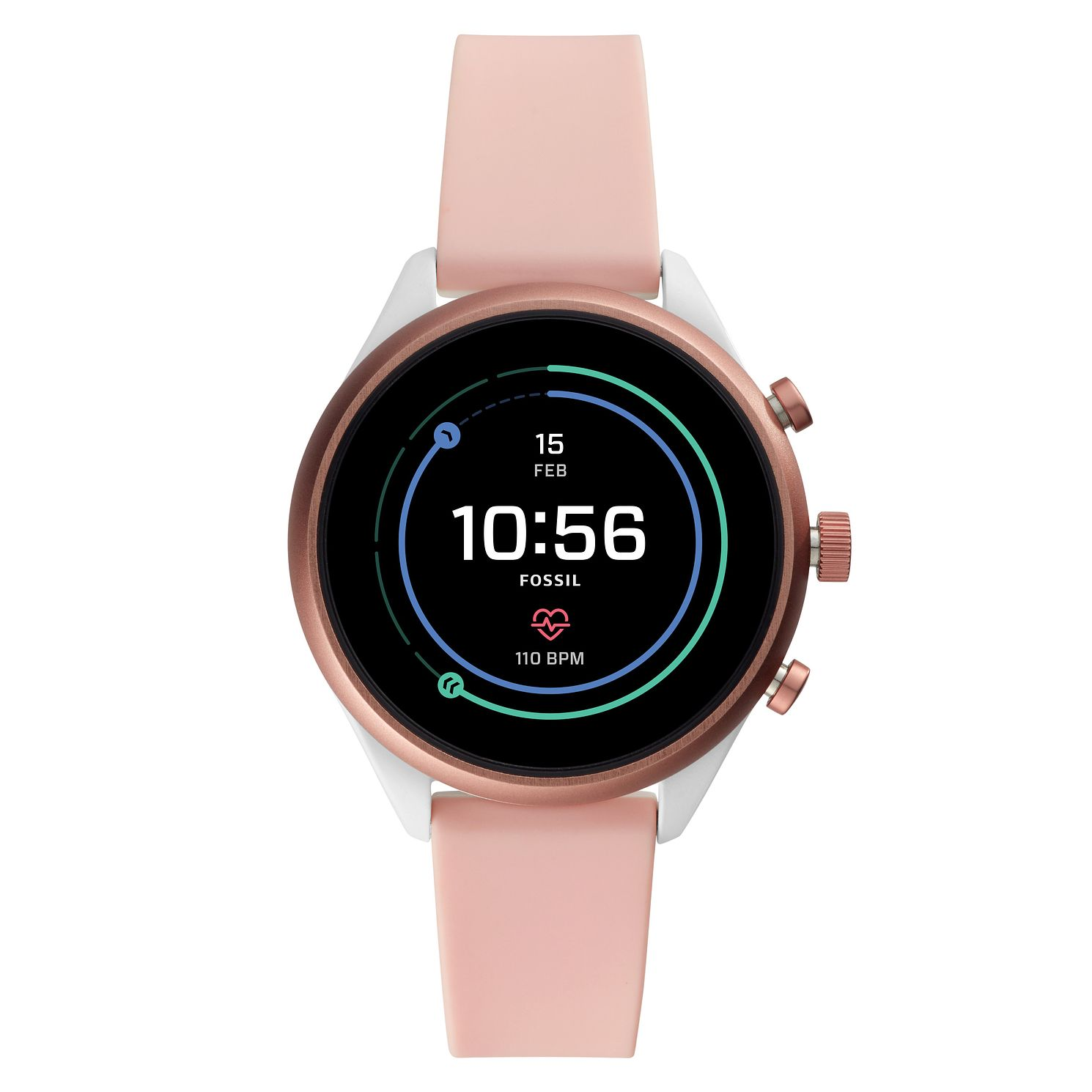 Fossil Smartwatches Sports Pink Silicone Strap Watch - Product number 4920783