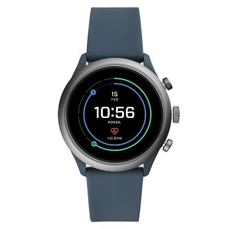 Fossil Smartwatches Sports Blue Silicone Strap Watch - Product number 4920791