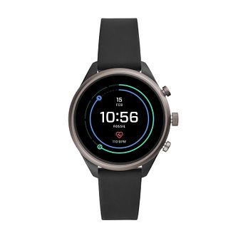 Fossil Smartwatches Sports Black Silicone Strap Watch - Product number 4920805