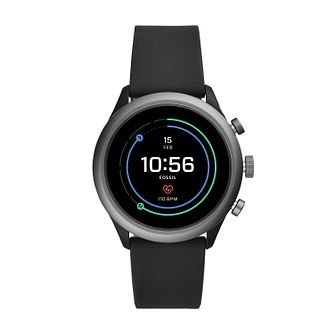 Fossil Smartwatches Sports Black Silicone Strap Watch - Product number 4920813