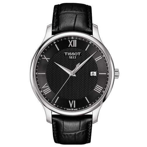 Tissot Men's Stainless Steel Black Strap Watch - Product number 4921348