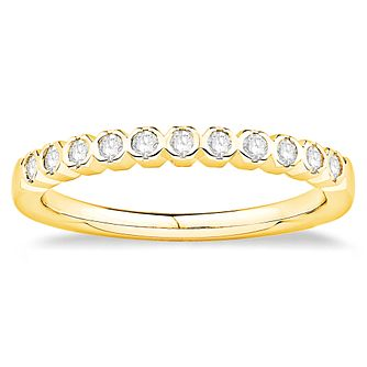 18ct Yellow Gold 1/5ct Diamond Round Frame Ring - Product number 4922182