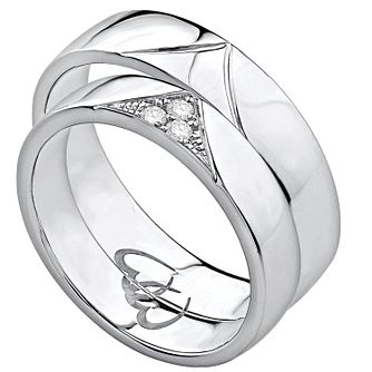 Commitment 9ct White Gold Diamond Ring Set - Product number 4926412