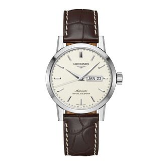 Longines 1832 Men's Brown Leather Strap Watch - Product number 4927532
