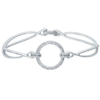 Sterling Silver 0.20ct Diamond Bangle - Product number 4931289