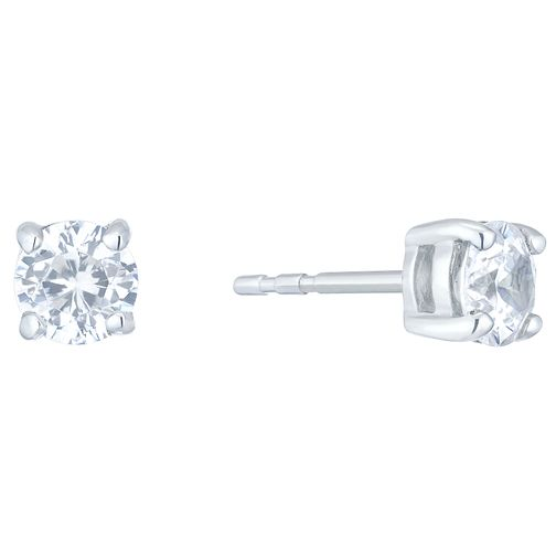 18ct White Gold 1ct Diamond 4 Claw Earrings - Product number 4931572