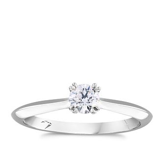 Arctic Light 18ct White Gold 0.30ct Diamond Solitaire Ring - Product number 4931890