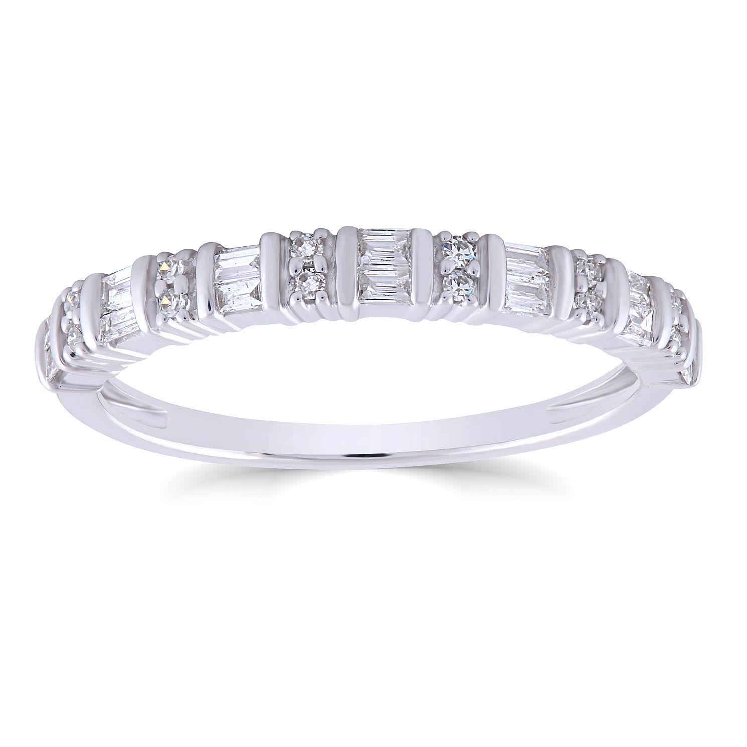 9ct White Gold 0.20ct Diamond Mix Cut Ring - Product number 4934857
