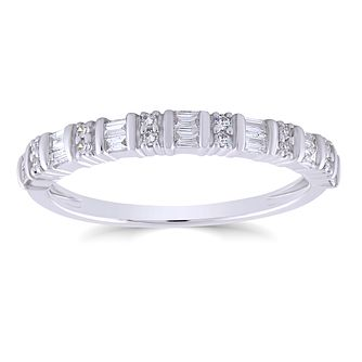 9ct White Gold 1/5ct Diamond Mix Cut Ring - Product number 4934857
