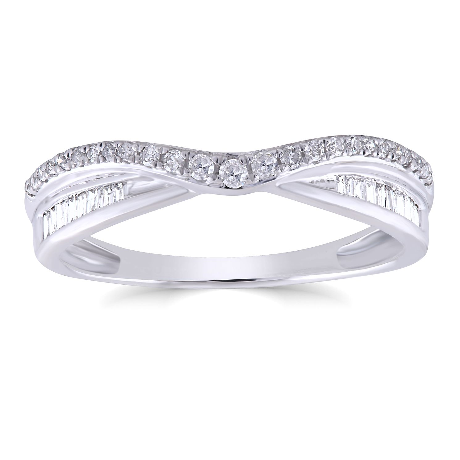 18ct White Gold 0.20ct Diamond Mix Cut Shaped Ring - Product number 4936949