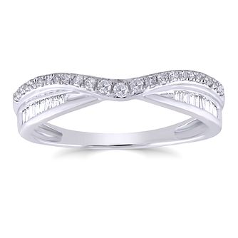 18ct White Gold 1/5ct Diamond Mix Cut Shaped Ring - Product number 4936949