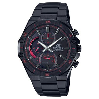 Casio Edifice Men's Black Stainless Steel Bracelet Watch - Product number 4938259