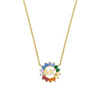 Michael Kors Yellow Gold Tone Rainbow Cubic Zirconia Pendant - Product number 4939123