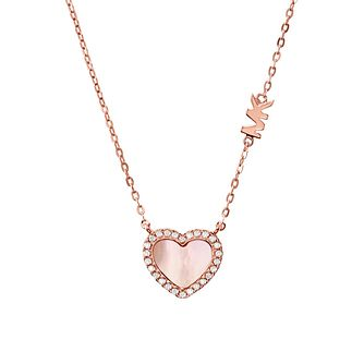 Michael Kors Ladies' Rose Gold Tone Love Heart Pendant - Product number 4939344