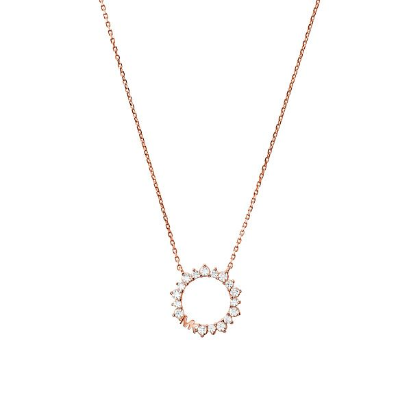 Michael Kors Ladies' Rose Gold Tone Ring Pendant - Product number 4939441