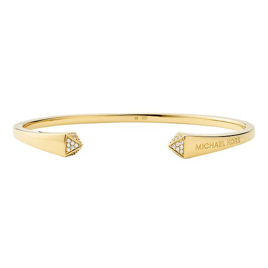 Michael Kors Yellow Gold Tone Mercer Cubic Zirconia Cuff - Product number 4939484