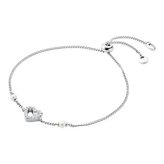 Michael Kors Ladies' Silver Pearl Love Bracelet - Product number 4939565