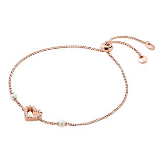 Michael Kors Ladies' Rose Gold Tone Pearl Love Bracelet - Product number 4939573