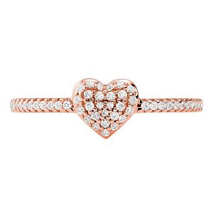 Michael Kors Rose Gold Tone Love Heart Ring - Product number 4939670