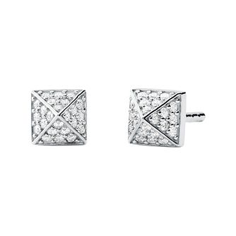 Michael Kors Stainless Steel Cubic Zirconia Stud Earrings - Product number 4939735