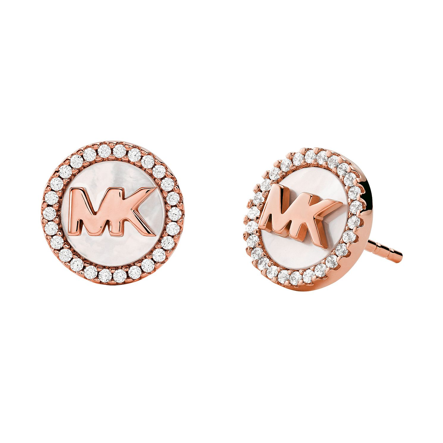 Michael Kors Rose Gold Tone Mother of Pearl Stud Earrings - Product number 4939840