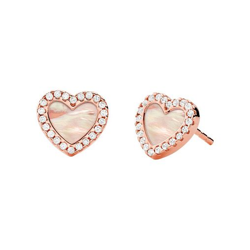 Michael Kors Mother Of Pearl Love Heart Stud Earrings - Product number 4940083