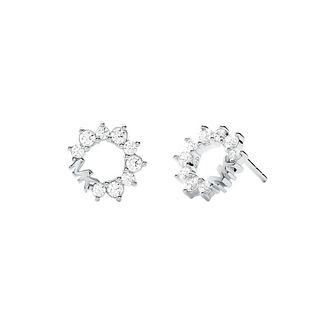 Michael Kors Silver Cubic Zirconia MK Stud Earrings - Product number 4940504