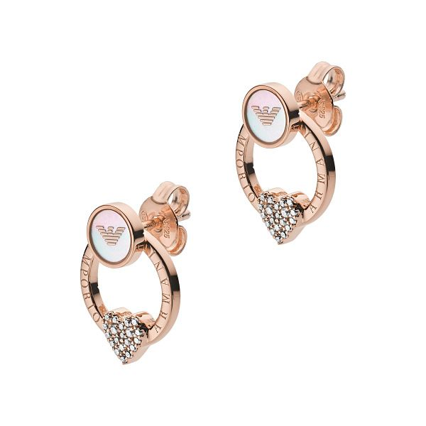 Emporio Armani Rose Gold Tone Stud Earrings - Product number 4940539