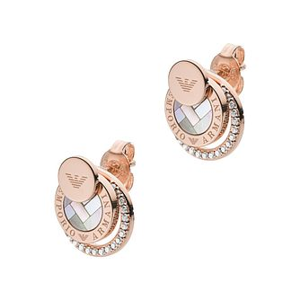 Emporio Armani Rose Gold Tone Stud Earrings - Product number 4940555